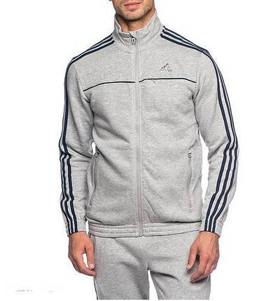 Спортивный костюм Adidas, серый костюм, с лампасами, R223, фото 2