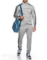 Спортивный костюм Adidas, серый костюм, с лампасами, R224