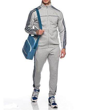 Спортивный костюм Adidas, серый костюм, с лампасами, R224, фото 2