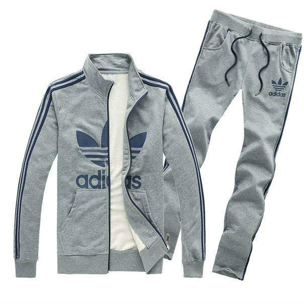 Спортивный костюм Adidas, серый костюм, с лампасами, R230
