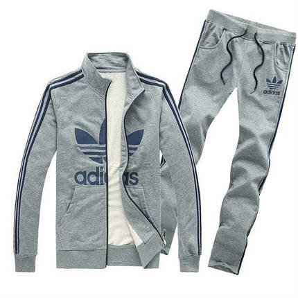 Спортивный костюм Adidas, серый костюм, с лампасами, R230, фото 2