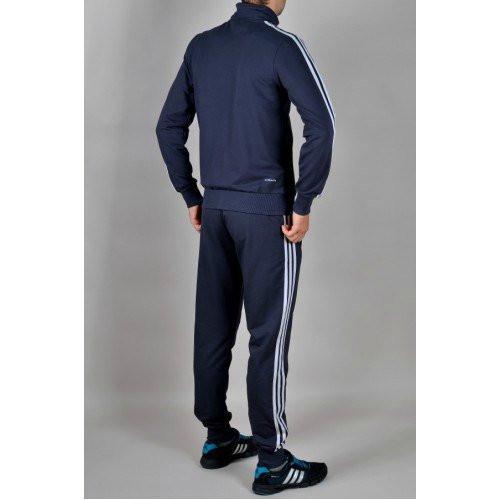 Спортивный костюм Adidas, синий костюм, с лампасами, R235