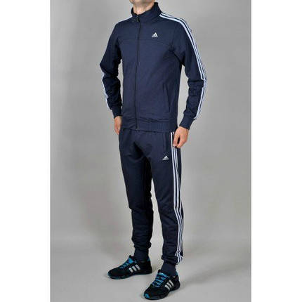 Спортивный костюм Adidas, синий костюм, с лампасами, R234, фото 2