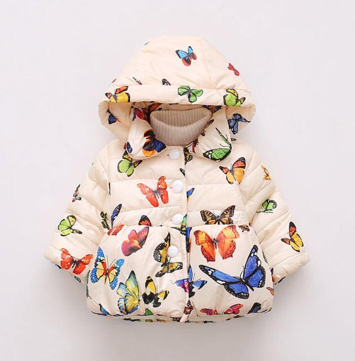 Куртка Бабочки на махре Нов (бел) 110