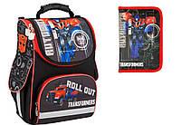 """Комплект. Рюкзак школьный каркасный Transformers TF16-501S-1 + пенал, ТМ """"Kite"""""""