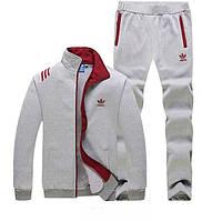 Зимний спортивный костюм, теплый костюм Adidas, серый костюм, R267