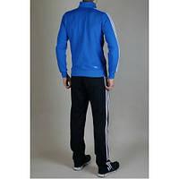 Спортивный костюм Adidas, синяя коRта, черные штаны,с лампасами R290