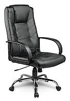Офисное кресло EG-221 ЭКО КОЖА, черное В НАЛИЧИИ