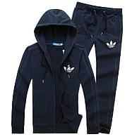 Спортивный костюм Adidas, темно-синий костюм, с лампасами, R317