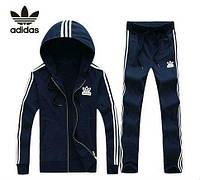 Спортивный костюм Adidas, темно-синий костюм, с лампасами, R322