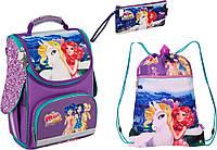 "Комплект. Рюкзак школьный каркасный Mia&Me MM16-501S-2 + пенал + сумка, ТМ ""Kite"""