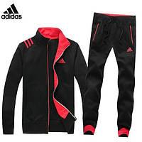 Спортивный костюм Adidas, черный костюм с розовыми вставками R2984