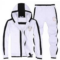 Зимний спортивный костюм, теплый костюм Armani, белый костюм, с капюшоном, R2995