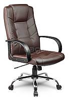 Офисное кресло EG-221 ЭКО КОЖА, коричневое В НАЛИЧИИ