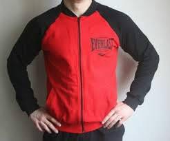 2c55acb6 Спортивный костюм Everlast, красное туловище, черные рукава, R3036, фото 2