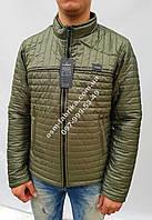 Качественная мужская куртка цвета хаки новинка сезона