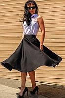 """Женская Черная клешеная юбка """"Малага"""""""