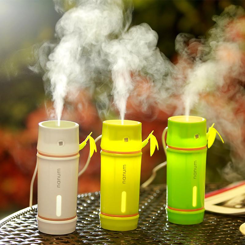 Портативный мини увлажнитель воздуха для дома и автомобиля с ночником Mini Bamboo