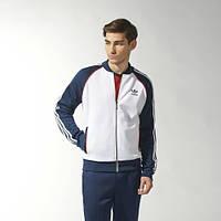 Спортивный костюм Adidas, белое туловище, синие рукава, синие штаны, с165