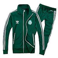 Зимний спортивный костюм , костюм на флисе Adidas, зелёный костюм,с лампасами с179