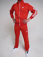 Спортивный костюм Adidas, красный костюм, с лампасами с182