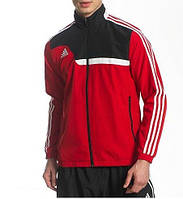 Спортивный костюм Adidas, красный верх, черный низ, с лампасами с184