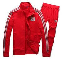 Спортивный костюм Adidas, красный костюм, с лампасами с195