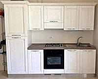 Мини кухня с фрезерованными  МДФ фасадами