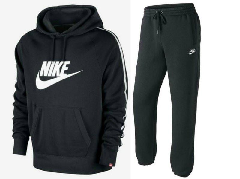 Спортивный костюм Nike, черный кенгуру, логотип вышит, R3192 ... 3254c10f312