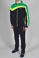 Спортивный костюм Nike, черный с салатовыми и синими вставками, R3211