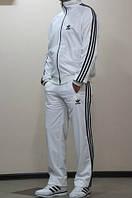 Спортивный костюм Adidas, белый костюм, с лампасами, с258