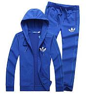 Спортивный костюм Adidas, синий костюм, с лампасами, с274