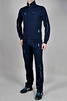 Спортивный костюм Adidas, тёмно-синий костюм, с лампасами, с298