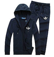 Спортивный костюм Adidas, темно-синий костюм, с лампасами, с317