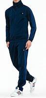 Спортивный костюм Adidas, темно-синий костюм, с голубыми лампасами, с327