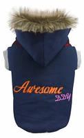 Куртка для собак Awesome DDY синяя коттон XL