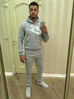 Зимний спортивный костюм, теплый костюм Nike серый Кенгуру, толстовка, Индонезия, R3355