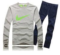 Зимний спортивный костюм, теплый костюм Nike, серый, R3364
