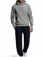 Зимний спортивный костюм, теплый костюм Nike, серый, R3373