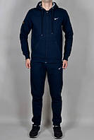 Зимний спортивный костюм, теплый костюм Nike, темно-синий Кенгуру, толстовка, R3388
