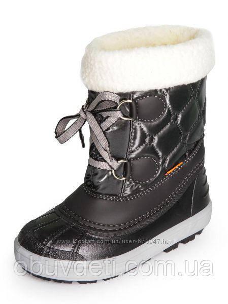 Черные зимние сапоги для девочки Demar Furry  22-23р - 15см