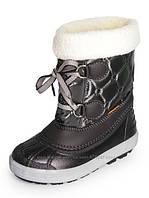 Черные зимние сапоги для девочки Demar Furry  22-23р - 15см , фото 1