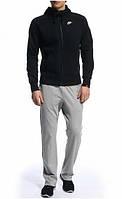 Зимний спортивный костюм, теплый костюм Nike, черный, R3423