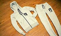 Спортивный костюм Reebok, серый хлопковый, со змейкой, R3430