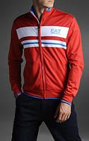 Спортивный костюм Armani, красная коста с белой вставкой, черные штаны, с3002