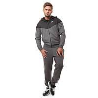 Зимний спортивный костюм , костюм на флисе найк, темно-серый, для тренеровок, с3070