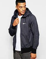 Зимний спортивный костюм , костюм на флисе Nike, темно-серый со змейкой, с3082