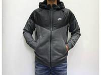 Зимний спортивный костюм , костюм на флисе Nike, темно серый со змейкой, с3087