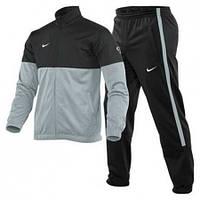 Зимний спортивный костюм , костюм на флисе найк, черный верх, серый низ, черные штаны, с3084