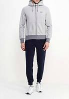 Зимний спортивный костюм , костюм на флисе Nike, серый верх, черный низ, с3094